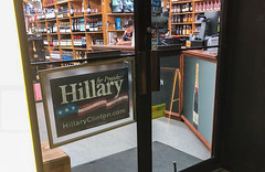 Hillary for Liquor Store, Hells Kitchen, Manhattan, NYC