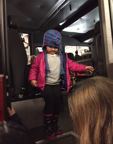 a turn in the fire truck