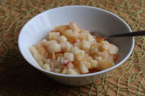 Frisch zubereitetes Apfelkompott