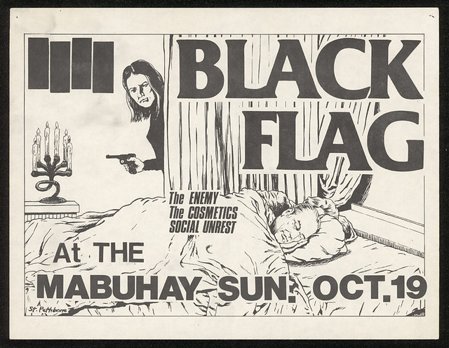 Black Flag, The Enemy, The Cosmetics, Social Unrest @ the Mabuhay Gardens, San Francisco, CA 1980