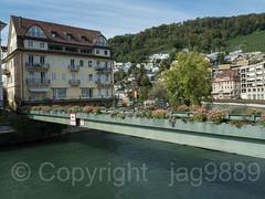 LIM640 Mercier Pedestrian Bridge over the Limmat River, Ennetbaden - Baden, Canton of Aargau, Switzerland