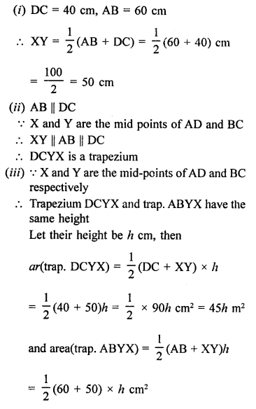 Quadrilaterals With Solutions PDF RD Sharma Class 9 Solutions