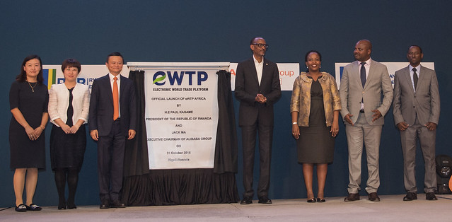 President Kagame and Jack Ma attend the Official Launch of Electronic World Trade Platform (eWTP) Africa | Kigali, 31 October 2018