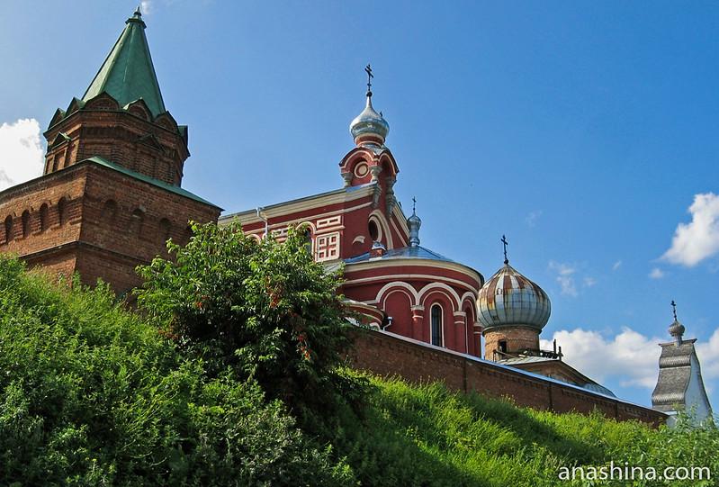 Панорама Никольского монастыря с берега Волхова, Старая Ладога