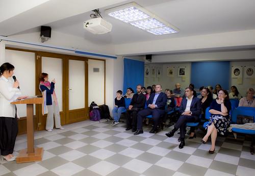 С докладом ученый секретарь Ю.В. Саблина. Лермонтовские выставки в Армении  при поддержке Российского центра науки и культуры в Ереване