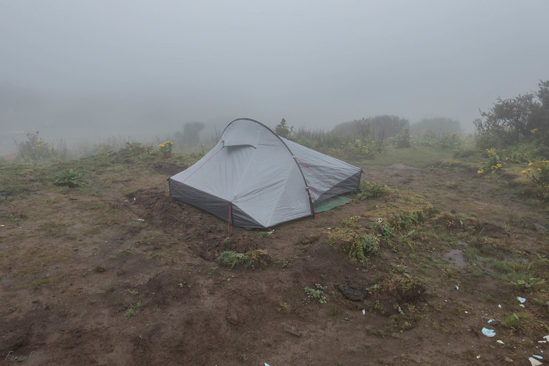 Tent pitched at Sandakphu campground