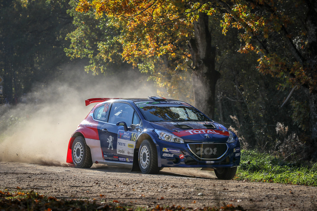 16 PELLIER Laurent, (FRA), Geoffrey COMBE, (FRA), Peugeot Rally Academy, Peugeot 208 T16 R5, Action during the 2018 European Rally Championship ERC Liepaja rally,  from october 12 to 14, at Liepaja, Lettonie - Photo Alexandre Guillaumot / DPPI
