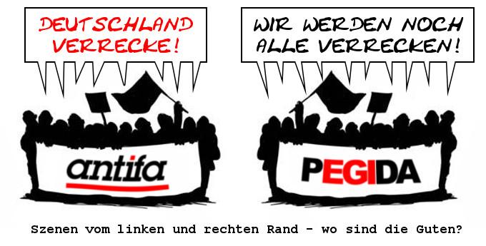 Antifa versus Pegida