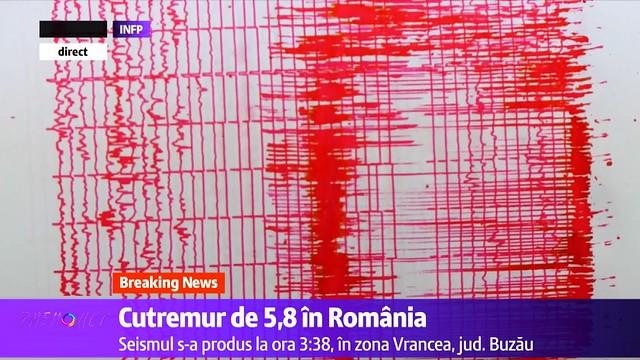 Cutremur de 5,8 in Romania 28 octombrie 2018 ora 3:38