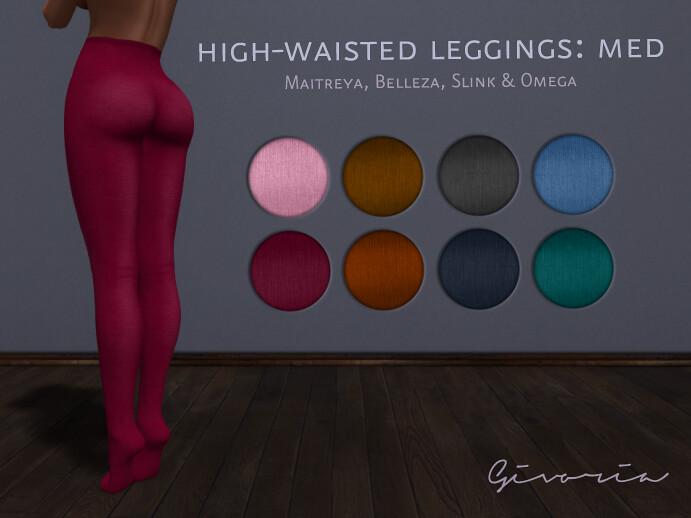High-Wasted Leggings Med