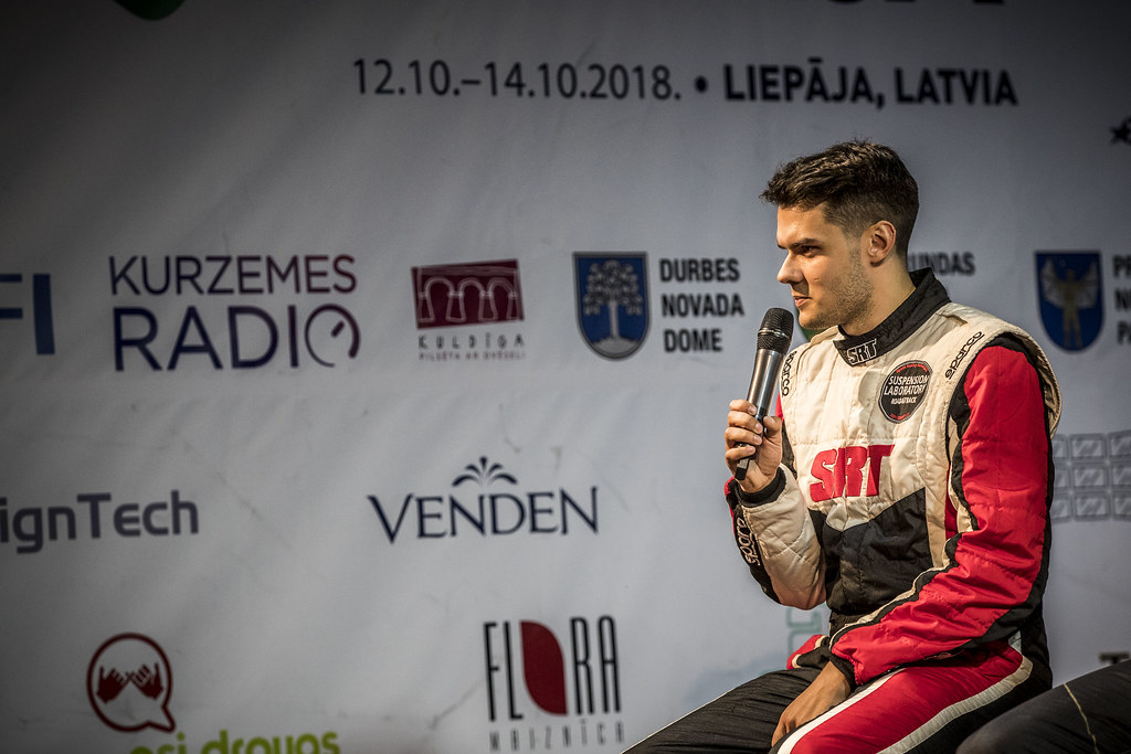 GRYAZIN Nikolay , (LVA), Sports Racing Technologies, Skoda Fabia R5,Portrait during the 2018 European Rally Championship ERC Liepaja rally,  from october 12 to 14, at Liepaja, Lettonie - Photo Gregory Lenormand / DPPI