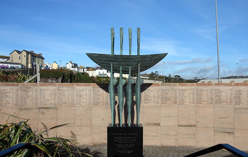 Memorial to those lost at sea. Dunmore East, County Waterford, Ireland