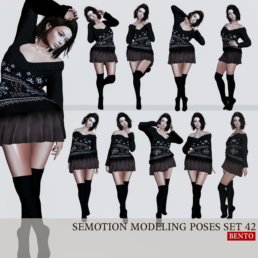 SEmotion Female Bento Modeling poses Set 42 @ C88 - TeleportHub.com Live!