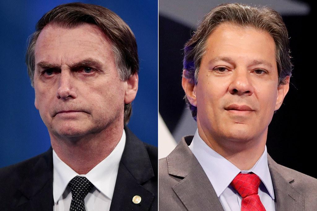 Rede, PSB, PSDB, DC e PPL devem anunciar ainda hoje apoio no 2º turno, Haddad e Bolsonaro