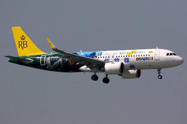 Royal Brunei | Airbus A320-200N | V8-RBD | Brunei tourism livery | Hong Kong International