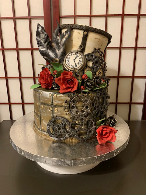 Steampunk Wedding Cake by Grace Ramirez of ImagiCakes by Grace