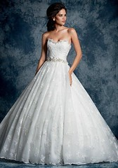 Wedding Dresses : Alfred Angelo strapless ball gown with sweetheart neckline, including beaded and...