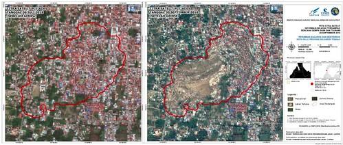 Foto kota Palu yang diambil stasiun bumi LAPAN.