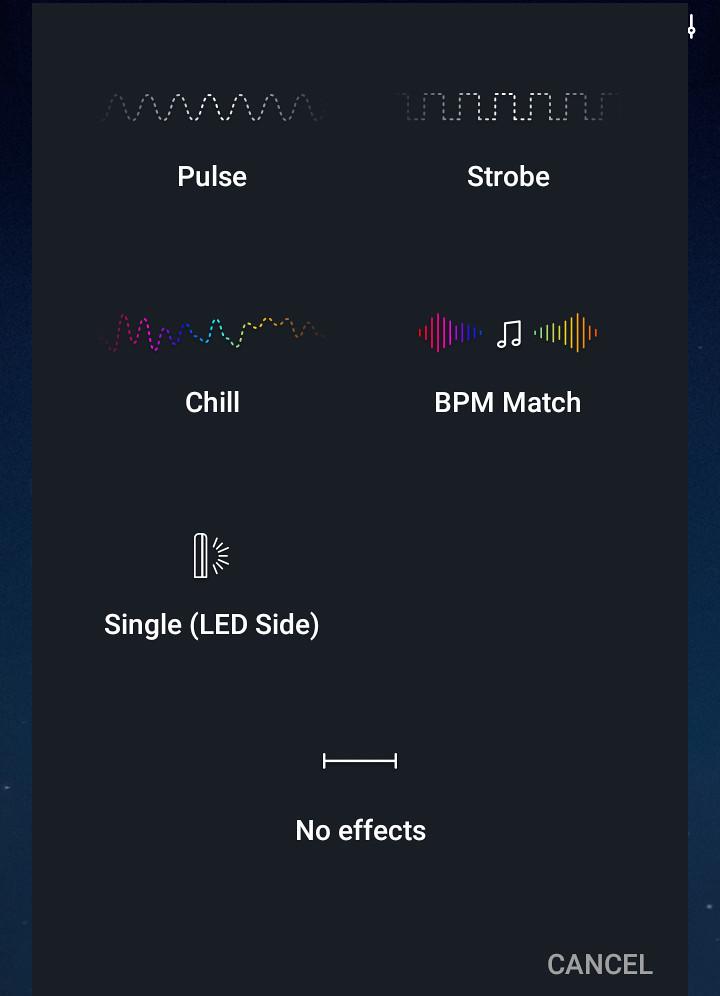 BioLiteアプリ 点灯パターン