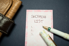 Listing items on a shopping list