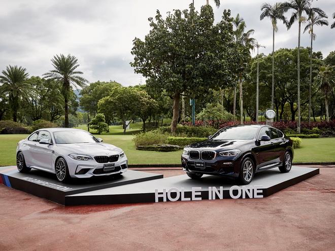 [新聞照片三] 一桿進洞大獎全新BMW X4(右)及現場展示全新BMW M2 Competition(左)
