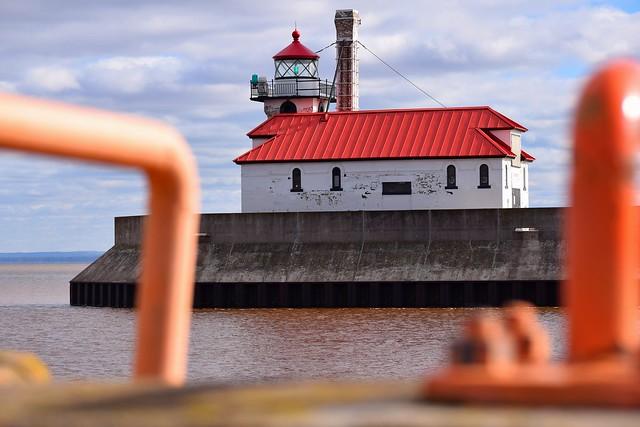 Lighthouse, East side of Duluth harbor