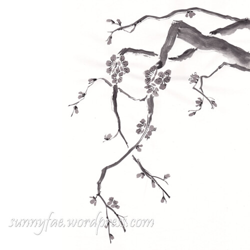 inkktober day 12 plum blossom