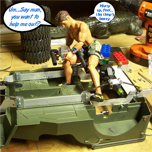 Building an RC sixth scale Jeep 44637653055_50c5c08441_z