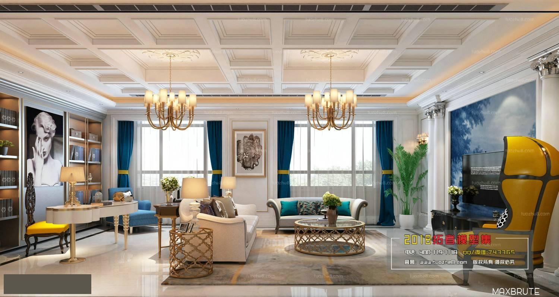 Sell Classic livingroom ex - Maxbrute Furniture Visualization
