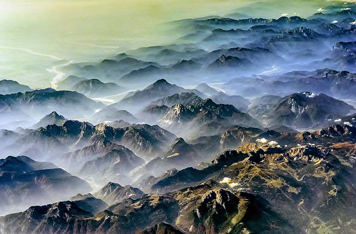 Eastern Alps from the Sky