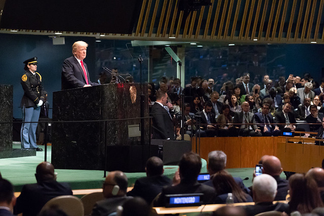President Donald J. Trump at the United Nations General Assembly