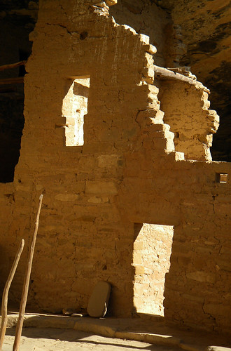 The ruin of a home in Spruce House, a cliff dwelling at Mesa Verde in Colorado, USA