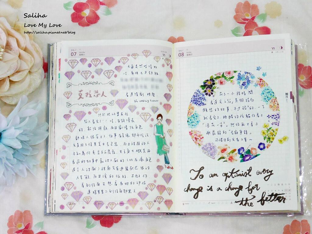 開花生活實驗室往世書手帳裝飾心得分享紙膠帶應用彩繪花環 (4)