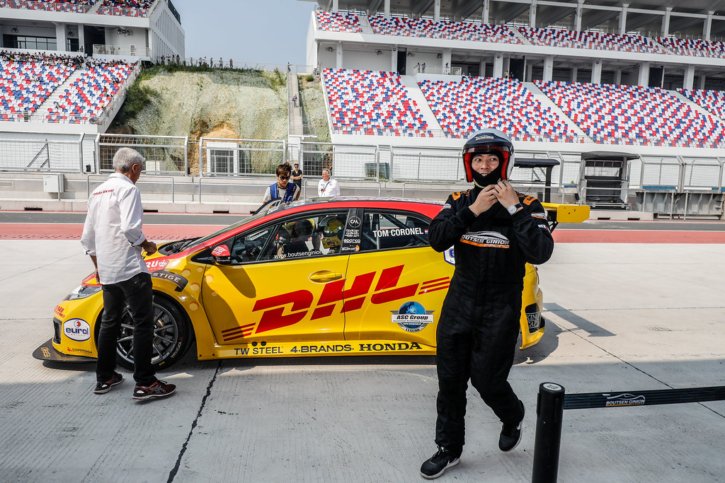 CORONEL Tom, (nld), Honda Civic TCR team Boutsen Ginion Racing, portrait, VIP HOT LAP,  during the 2018 FIA WTCR World Touring Car cup of China, at Ningbo  from September 28 to 30 - Photo Marc de Mattia / DPPI