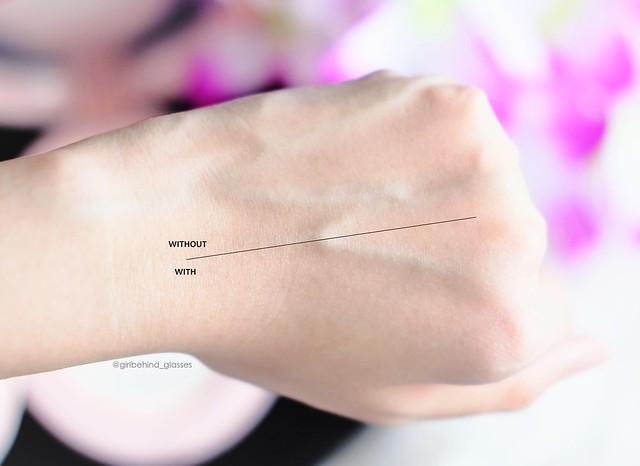 Secret Muse UV Vita Sun Cushion SPF50 2 on skin