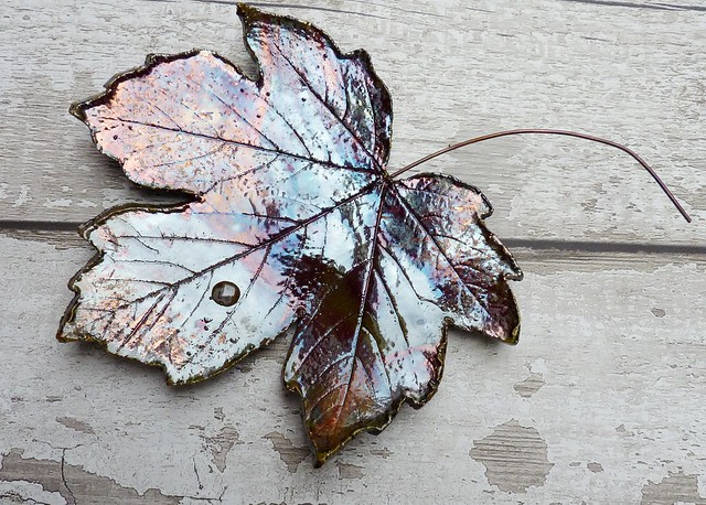 raku leaves for the wall
