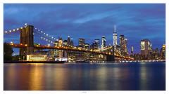 Blue Hour Brooklyn Bridge
