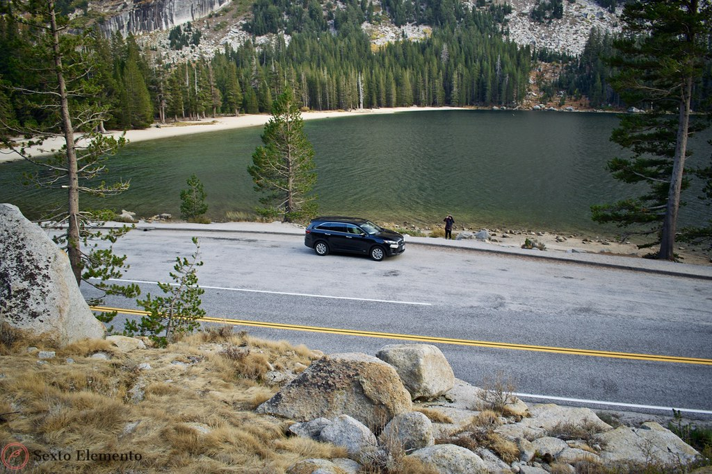 yosemite-kia-sorento-lake-high-angle-view