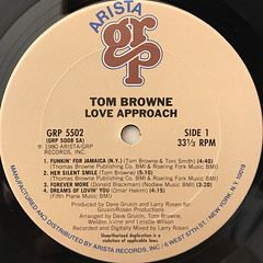 TOM BROWNE:LOVE APPROACH(LABEL SIDE-A)