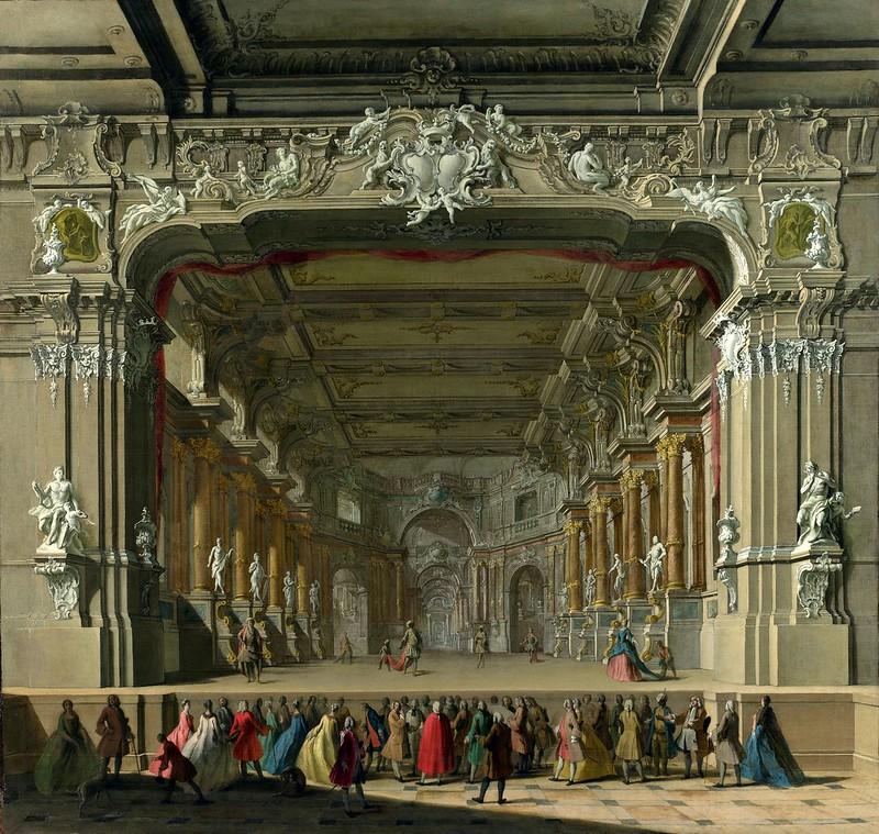 Unknown North Italian Artist - The Interior of a Theatre