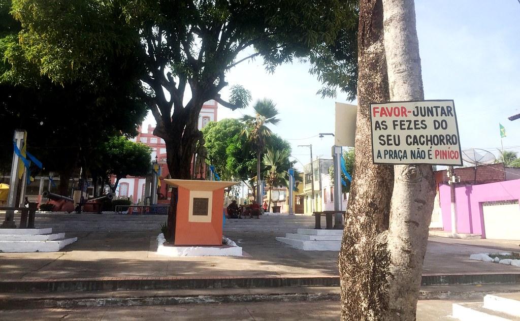 Praça do Centenário, em Santarém. Foto: Jeso Carneiro