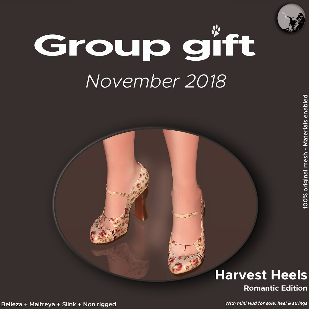 *PC* November GroupGift : Harvest Heels/Romantic Ed. - TeleportHub.com Live!
