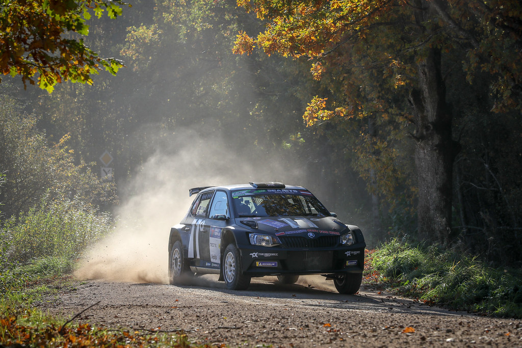 11 INGRAM Chris, (GBR), Ross WHITTOCK, (GBR), TOKSPORT WRT, Skoda Fabia R5, Action during the 2018 European Rally Championship ERC Liepaja rally,  from october 12 to 14, at Liepaja, Lettonie - Photo Alexandre Guillaumot / DPPI
