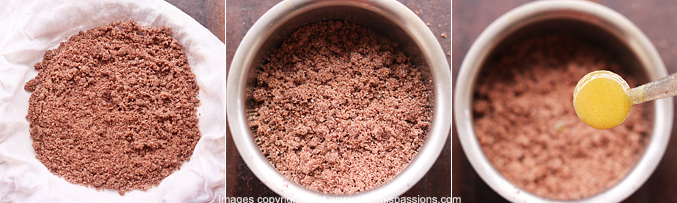 How to make ragi puttu recipe - Step4