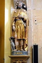 Un jour de Toussaint... Saint-Julien-de-Jonzy (71), église Saint-Julien, statue de saint Roch - Photo of Ligny-en-Brionnais