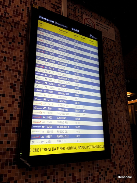 Tremini station train schedule