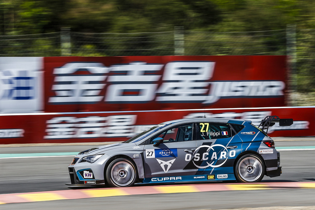 27 FILIPPI John, (fra), Seat Cupra TCR team Oscaro by Campos Racing, action during the 2018 FIA WTCR World Touring Car cup of China, at Ningbo  from September 28 to 30 - Photo Jean Michel Le Meur / DPPI