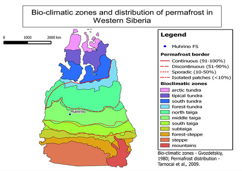 Biozones and permafrost vs. Mukhrino FS
