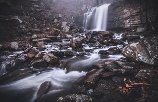 Dark and Foggy Waterfall- Bays Mountain