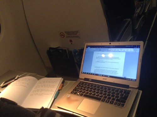 #AcWri on the plane